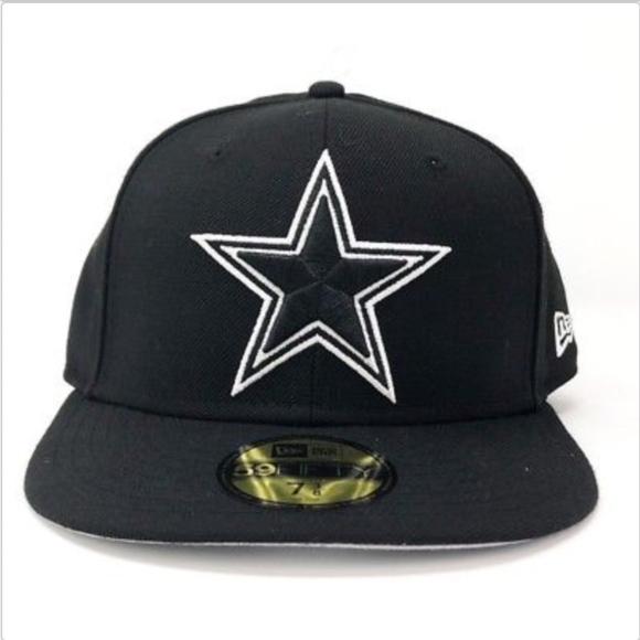 Dallas Cowboys New Era 59Fifty Black NFL Cap. M 5bba3d68a5d7c698d4845a5c bde476aa5